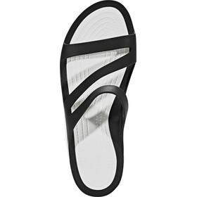 Crocs Swiftwater Sandalias Mujer, negro/blanco